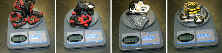 Time iCLIC Pedals Weight Comparison