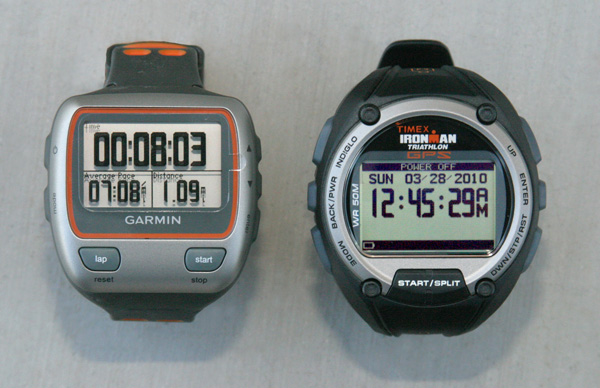 Garmin Forerunner 310XT and Timex Global Trainer GPS