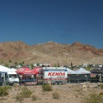 The Dirt Demo venue in the desert surrounding Las Vegas the day before Interbike 2010