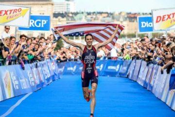 Gwen Jorgensen Finish Line
