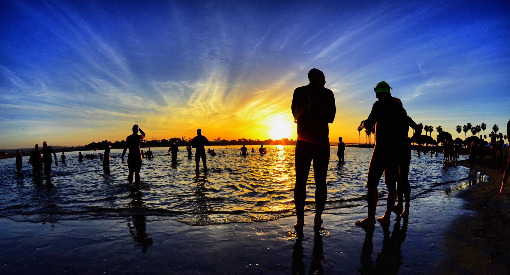 Waiting for the Start of the Triathlon in San Diego - April 20,
