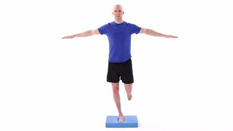 Image result for single leg balance on foam